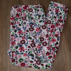 LuLaRoe TC2 flower leggings EUC